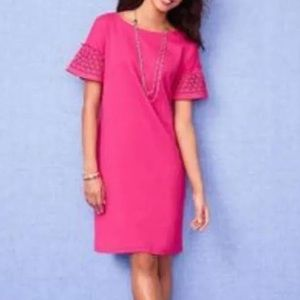 Talbots Pink dress with Lace Sleeves-NWOT